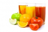 Delicious vegetable and fruit juices